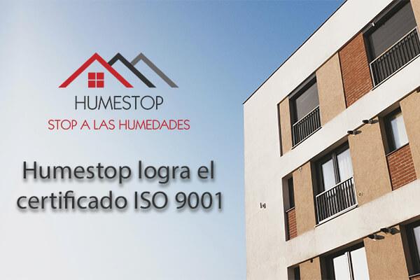 Humestop logra el certificado ISO 9001